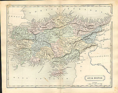 antient geography map by samuel butler 1869 -  asia minor