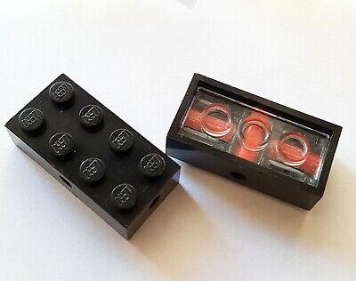 Lego Eisenbahn Rarität 1960-1970 Pat pend Achsstein 2x4 Schwarz unten Rot 29 A - Schwarz Pat 4