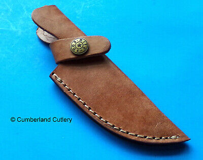 Small Leather Sheath for Fixed Blade Knife with up to 3-1/2