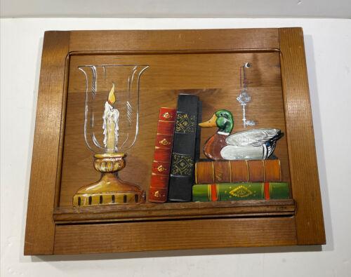 J. Weir Artist Folk Art Carved Vintage . Reclaimed Wood Art WOW LQQK  - $65.00