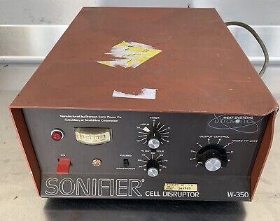 Branson Heat Systems Ultrasonic Sonifier Cell Disruptor Model W-350