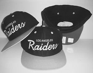 716ff72b8b6 Los Angeles Raiders Script Snapback NEW Authentic LA Hat Oakland Cap
