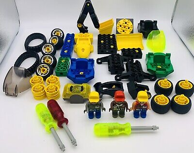 LEGO Tread Trackers 2913 & Cycle Cruiser 2904 Sets + Extras - VTG - 39 Pieces