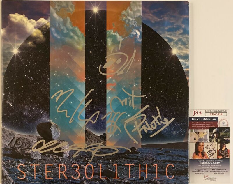 311 Signed Stereolithic Vinyl Record Autographed Full Band JSA COA