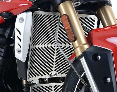 TRIUMPH SPEED TRIPLE R 16 2017 2018 RG STAINLESS STEEL RADIATOR GUARD