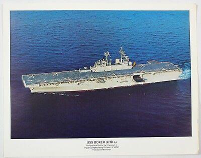 Vintage USS Boxer LHD 4 Ingalls Shipbuilding Division Of Litton Art Print