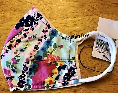 Vera Bradley Non-Medical Cotton Face MASK Covering WILDFLOWER PAISLEY NWT RARE