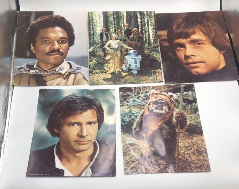 Vintage 1983 Star Wars 8x10 Photo Lucas Fan Club Lot Of 5 Return Of The Jedi