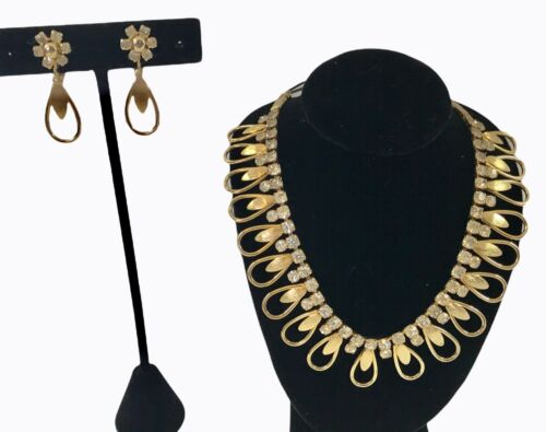 """Vintage Sarah Coventry Demi ~ Necklace & Earring Set ~ """"Chan-Di-Lites"""" ~ 1966"""