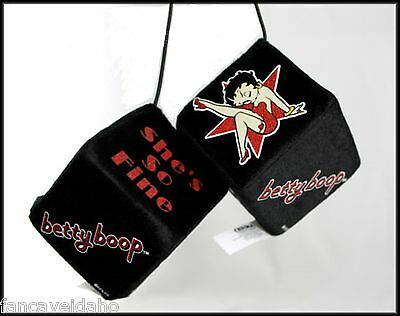Betty Boop Star She's So Fine Rear View Mirror Fuzzy Dice Car Toyz - FREE Ship!](Mirrored Star)