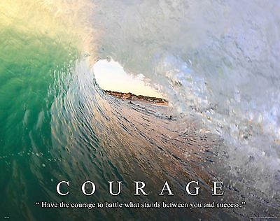 Surfing Motivational Poster Print Surfboard Home Kids Room Office Wall Art Decor