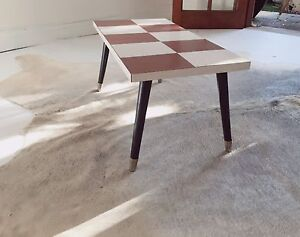 Mid Century Retro Coffee Table - Chequerboard Design Petersham Marrickville Area Preview