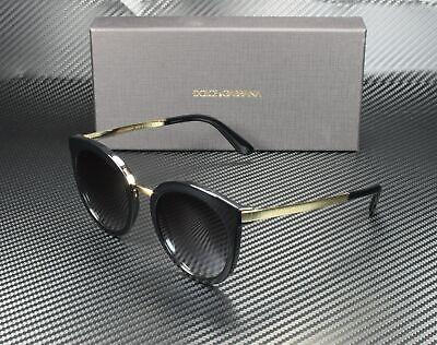 Dolce & Gabbana DG4268 501/8G BLACK GREY GRADIENT 52 mm Women's (Dolce And Gabbana Sunglasses)