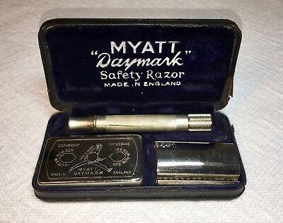 Vintage Safety Razor   Myatt  Daymark  De W  Case  Made In England