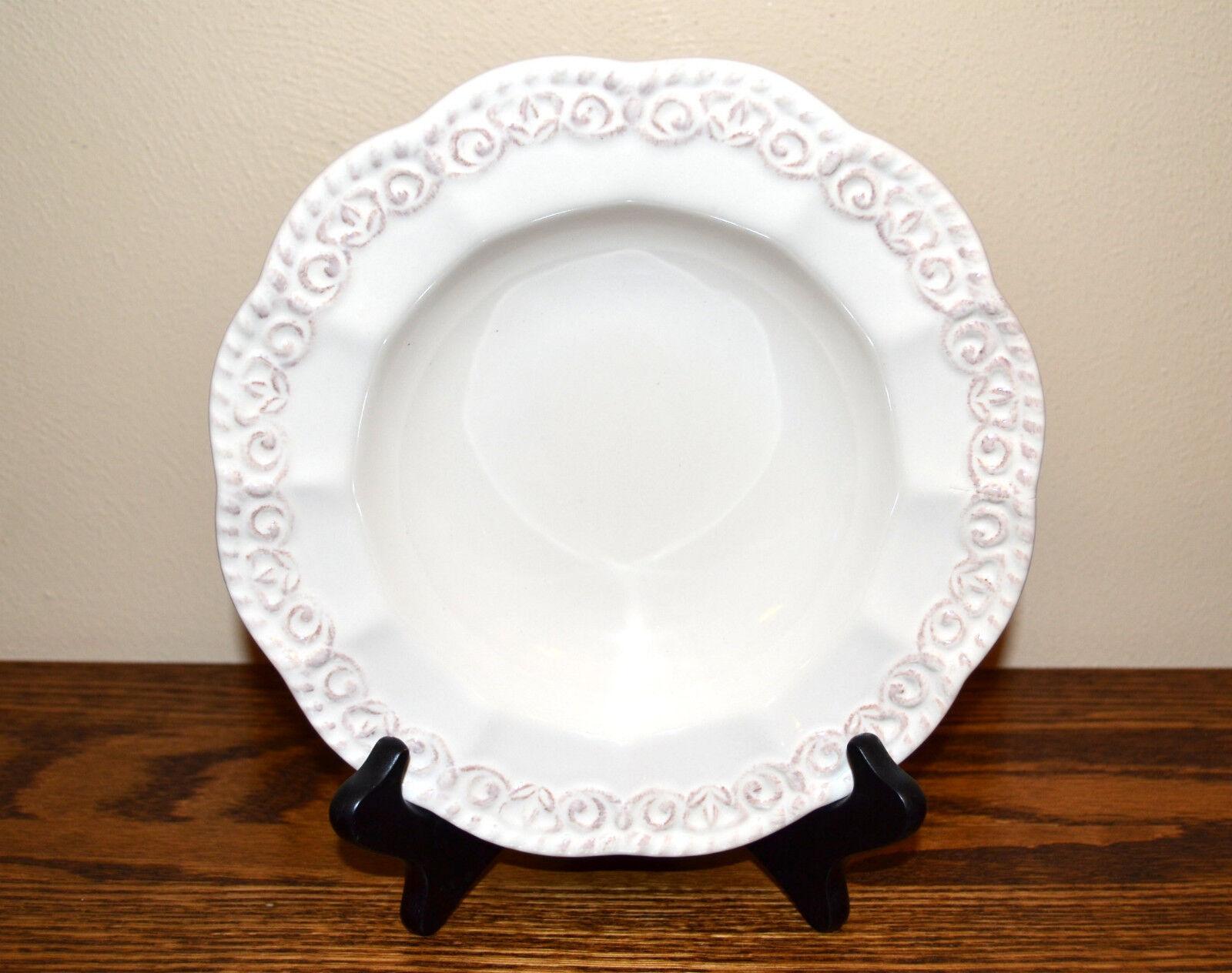 Certified International Florentine Antique White Soup Bowl  - $10.00