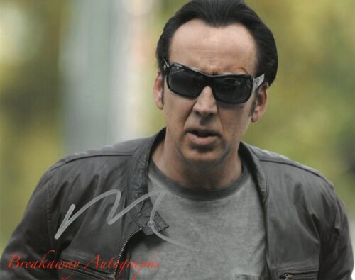 NICOLAS CAGE SIGNED 8x10 PHOTO PROOF COA AUTOGRAPHED GHOST RIDER