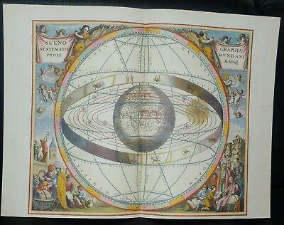 Laminiert Atlas (Karte aus HARMONIA MACROCOSMICA Himmelsatlas A. Cellarius Faksimile Coron Verlag)