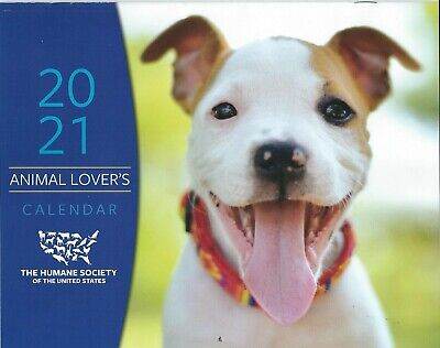 ANIMAL LOVER'S 2021 WALL CALENDAR W/STICKERS HUMANE SOCIETY OF THE UNITED STATES