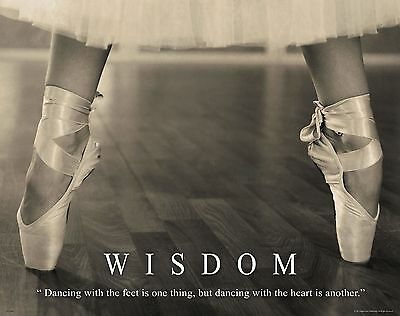 Ballet Dance Motivational Poster Art Print Shoes Flats Tutu Leotard Skirt Mvp380