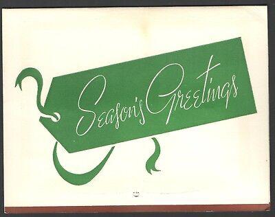 Vintage 1966 Calendar Christmas Card THE CANADIANA SHOPPE EMO, Ontario