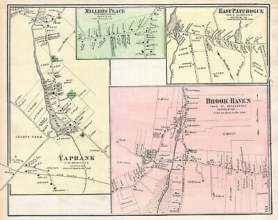 1873 Beers Map of the Hamptons, Long Island, New