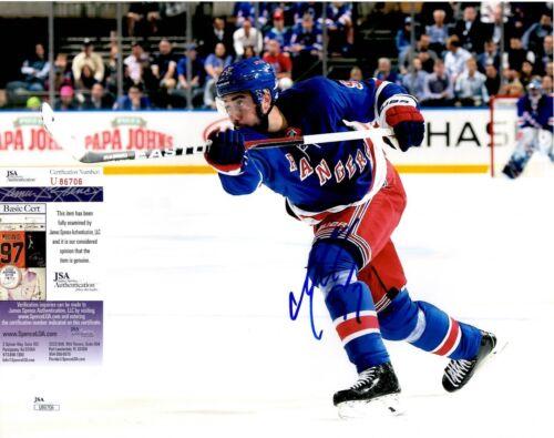 Mika Zibanejad Signed 11x14 Photo w/ JSA COA #U86706 New York Rangers NY