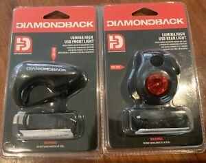 Diamondback Bike accessories Lumina High USB Front Rear Lights