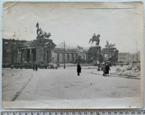 WWII 1945 May BERLIN Battle Wilhelm I Monument Big Original Vintage Photo German