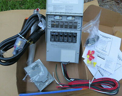 Generator Transfer Switch Kit 6 Circuit 30-amp Pre-wired Back-up Power Safety