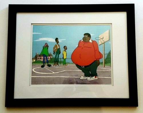 FAT ALBERT OPC Production Animation Seri-Graph Cel w Color Background Filmation