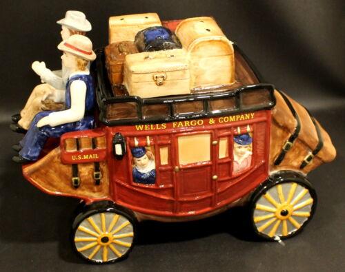Wells Fargo Stagecoach Cookie Jar Original Box EXCELLENT CONDITION