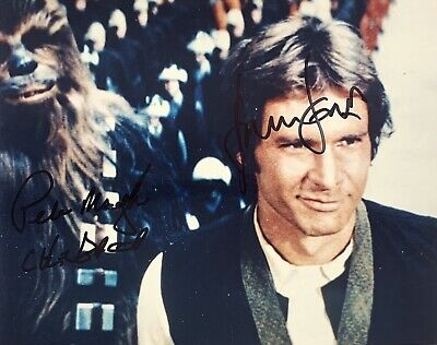 Harrison Ford & Peter Mayhew (Star Wars), Autograph Hand Signed 10 X 8 Photo.