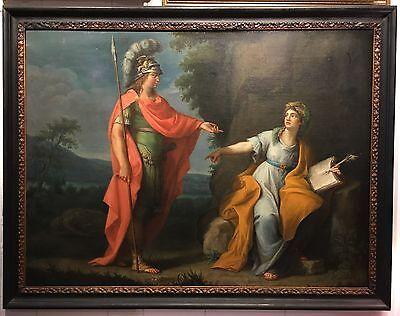 Pompeo Girolamo Batoni (School of) Classical Oil Scene on Canvas circa 1760-1780