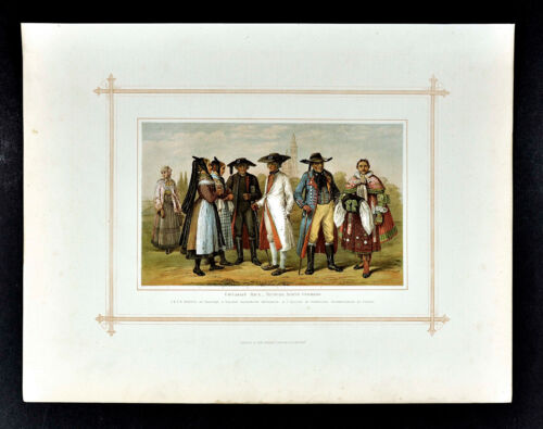 1883 Blackie Print - Caucasian Race - Teutons North Germany - Europe Costume