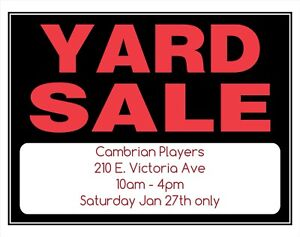 Cambrian Players YARD SALE