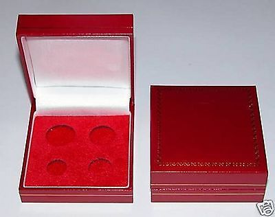 Red Padded Coin Cases To Hold Sovereign's, 1 2 Sovereigns, Crowns, Maundy etc