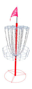 NEW Portable Disc Golf Goal Target Reg. Size 26 in Practice Basket DOUBLE CHAINS