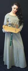 Medieval-LARP-Dark-Age-Viking-Re-enactment-Sage-KIRTLE-Under-Dress-size-8-PLUS