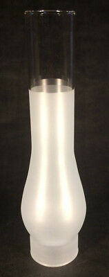 """2 5/8"""" X 11 5/8"""" Frosted GLASS CHIMNEY for RAYO & C.D. CENTRAL DRAFT LAMP BURNER"""