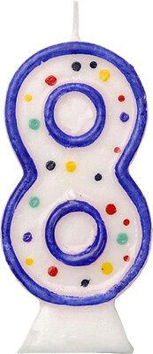 au Geburtstagskerze Kerze Ziffernkerze Geburtstagstorte 8cm (Kerze Zahlen)
