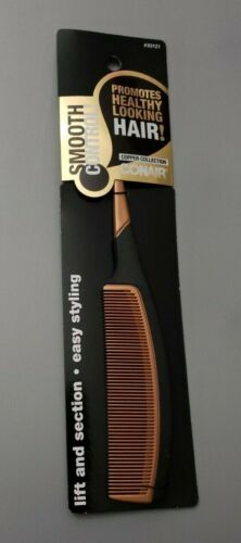 Conair Smooth Control Copper Collection Hair Comb, Lift & Section, Easy Styling