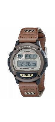 Vintage Casio W-89H Illuminator Brown Faux Leather Sport Wrist Watch New NOS