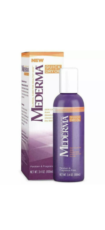 Mederma Quick Dry Oil Fragrance Free 3.4oz Scars Stretch marks Uneven skintone