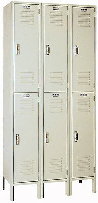 Lyon Standard Steel Gym School Athletic Industrial Metal Lockers 2 High 5212-3