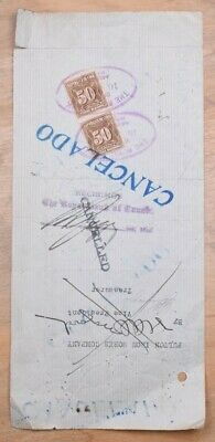 Mayfairstamps Habana Revenue Stamps on Document wwo87049
