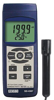 Reed Sd-4307 Conductivity Tds And Salinity Meter With Data Logger