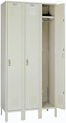 Lyon Standard Steel Gym School Athletic Industrial Metal Lockers One Tier 5032-3