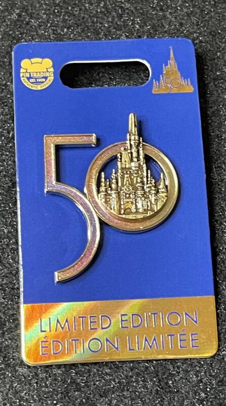 Disney 50th Anniversary Castle Pin Pin New LE 5000 Pin In Hand