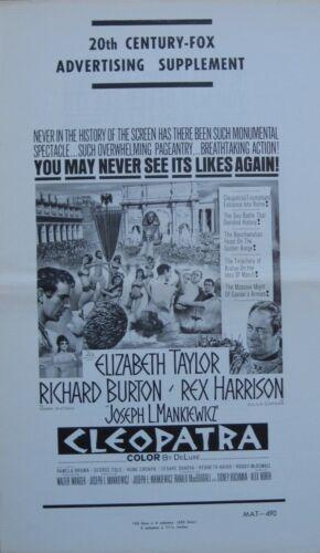 CLEOPATRA (1964) Original PRESSBOOK w/ ELIZABETH TAYLOR + RICHARD BURTON Rare!