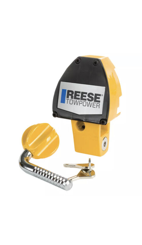 Reese Towpower 7066900 Universal Adjusting Trailer Coupler Security Lock, Yellow